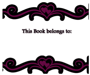 Gothic Heart Bookplates bookmark