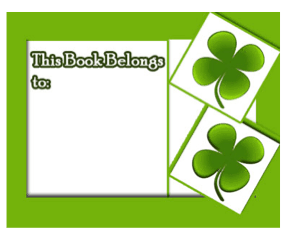 Green Clover Bookplates bookmark
