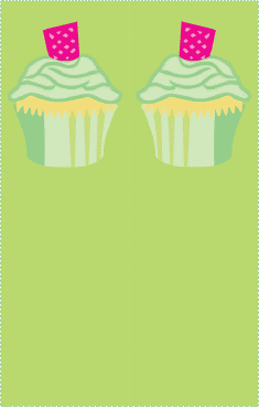 Green Cupcake Bookmark bookmark