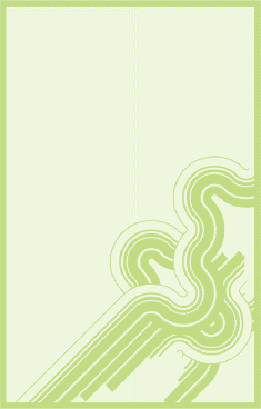 Green Curves Bookmark bookmark