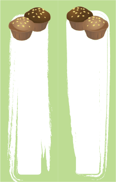 Green Muffins Bookmark bookmark