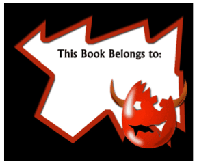 Halloween Bookplates bookmark