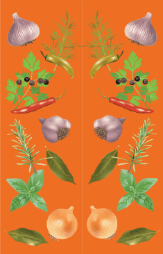 Herbs Orange Bookmark bookmark