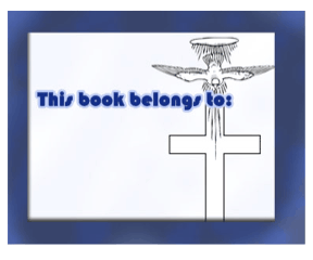 Holy Dove Cross Bookplates bookmark