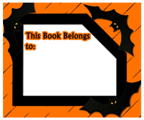 Horror Bat Bookplates bookmark