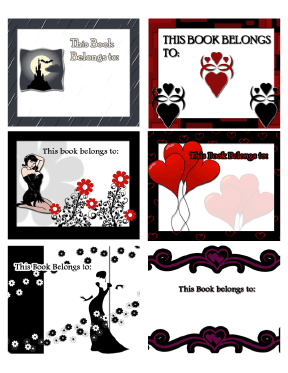 Horror Gothic And Fantasy Bookplates Assorted bookmark