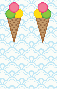Ice Cream Cone Blue Bookmark bookmark