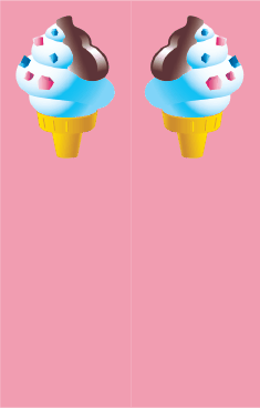 Ice Cream Cone Pink Bookmark bookmark