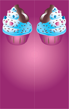 Ice Cream Sprinkles Purple Bookmark bookmark