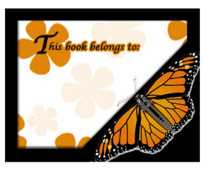 Monarch Butterfly Bookplates bookmark