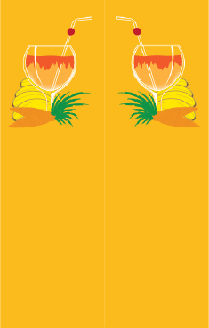 Orange Banana Drink Bookmark bookmark