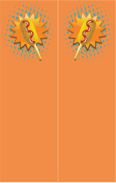 Orange Corndog Bookmark bookmark