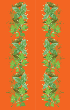 Orange Herbs Bookmark bookmark