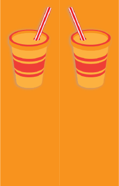 Orange Paper Cup Bookmark bookmark