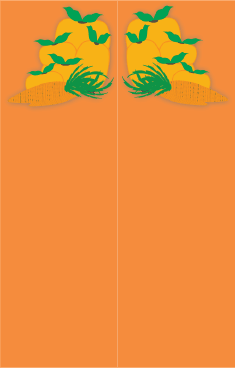 Orange Veggies Bookmark bookmark