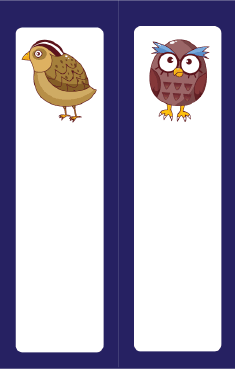 Partridge Owl Blue Bookmark bookmark