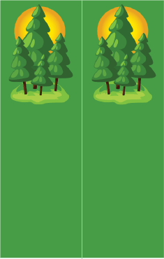 Pine Trees on Green Bookmark bookmark