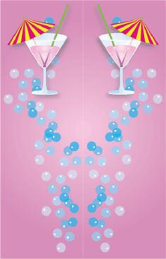 Pink Cocktail Bookmark bookmark