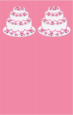 Pink Tiered Cake Bookmark bookmark