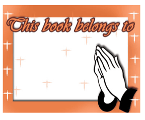 Praying Hands Bookplate bookmark