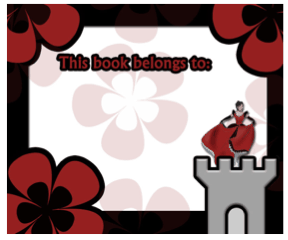 Princess Castle Bookplates bookmark