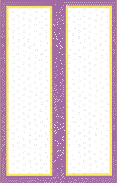 Purple Yellow Border Bookmark bookmark