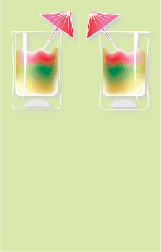 Rainbow Cocktail Green Bookmark bookmark