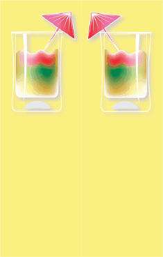 Rainbow Cocktail Yellow Bookmark bookmark