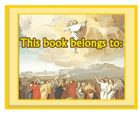 Religious Bookplate Jesus Ascension bookmark