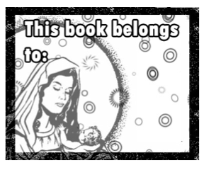 Religious Bookplate Mary Baby Jesus bookmark