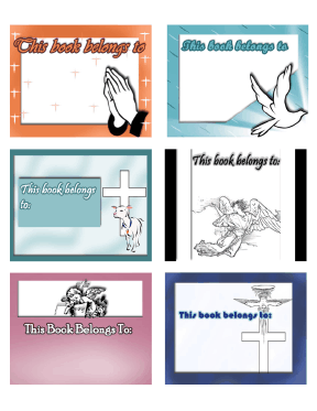 Religious bookplates assorted for Free printable bookplates templates
