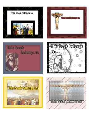 Religious Bookplates Jesus Assorted bookmark