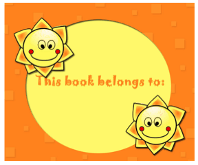 Sunshine Smile Bookplates bookmark