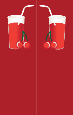 Tall Red Drink Red Bookmark bookmark