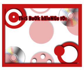 Technology Bookplate Disks bookmark