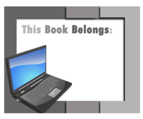 Technology Bookplate Laptop bookmark