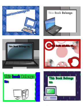 Technology Bookplates Assorted bookmark