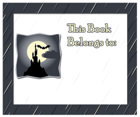 Vampire Castle Bookplates bookmark