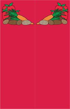 Vegetables Red Bookmark bookmark