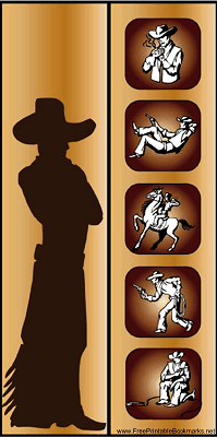 Western Bookmark with Cowboy bookmark