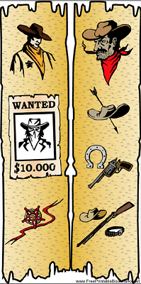 Western Bookmark with Sheriff bookmark