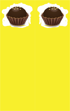 Yellow Chocolate Truffle Bookmark bookmark