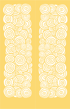 Yellow Circles Bookmark bookmark