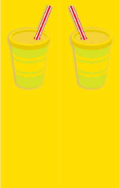 Yellow Paper Cups Bookmark bookmark