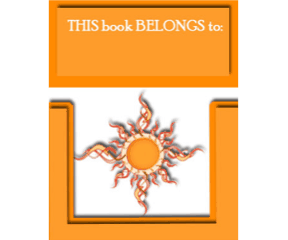 Yellow Sun Bookplates bookmark