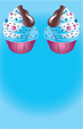 Ice Cream Sprinkles Blue Bookmark