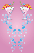 Pink Cocktail Bookmark