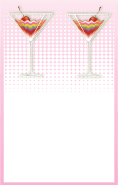 Pink Rainbow Cocktail Bookmark